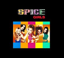 Spice Girls - the power of 5 throw pillow/tote by markkm08