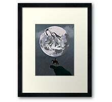 Wolf Link and Link Twilight Princess Framed Print