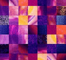 Geometric Design Squares Pattern Abstract V by Irina Sztukowski
