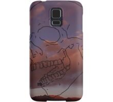 skull w/ some clouds behind Samsung Galaxy Case/Skin