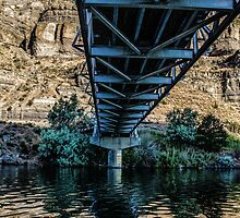 Single Lane Over the Deschutes by Richard Bozarth
