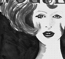 Vintage Vogue Black & White by nated83fashart