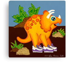Yellow Dinosaur Canvas Print