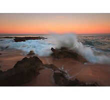 A Splash of Dawn - Koonya Beach Blairgowrie Photographic Print