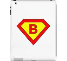 Superman alphabet letter iPad Case/Skin