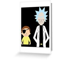 Evil Rick and Morty [PLAIN] Greeting Card