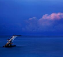Jump over the horizon or dive into the Aegean by Hercules Milas