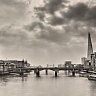 Early Morning on Millenium Bridge by Dale Rockell