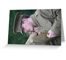 A soldier of the Great War relaxes Greeting Card