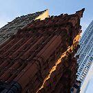 A Slice of Sunshine - Manhattan's Potter Building at Sunrise by Georgia Mizuleva