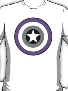Asexual Flag Cap Shield T-Shirt