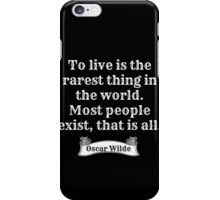 Live versus Exist iPhone Case/Skin