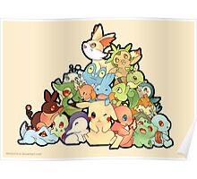Pokemon - All starters Poster
