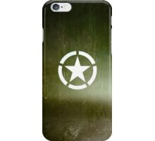 Vintage Allied Star - Army Green iPhone Case/Skin