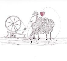 Tangled Spinner in the Flock by Christianne Gerstner