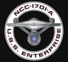 USS Enterprise Logo - Star Trek - NCC-1701-A (Movie Colour) by James Ferguson - Darkinc1