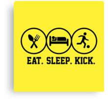 Eat Sleep Kick tshirt for soccer fans Canvas Print