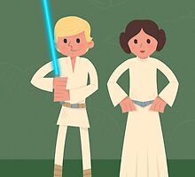 Luke & Leia, The Siblings by mrninja13