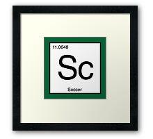 Sc for Soccer Element tshirt for Soccer fans Framed Print