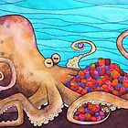 The Fruitarian Octopus. by Vicky Pratt