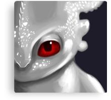 Albino Night Fury Canvas Print