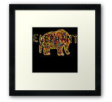 Elephant. In a variety of colours. Framed Print