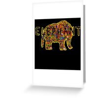 Elephant. In a variety of colours. Greeting Card