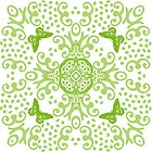 Green 'n White Butterfly Medallion by 2HivelysArt