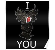 Skyrim - I Daedric Heart You Poster