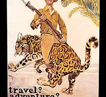 Travel Adventure U.S. Marines Vintage by SpiceTree