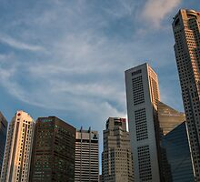 Singapore Skyline by Marylou Badeaux