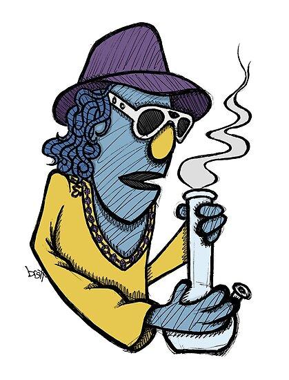 Zoot Smoking Weed by Brett Gilbert