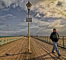 No Fishing on Penarth Pier by Gordon Maclaren
