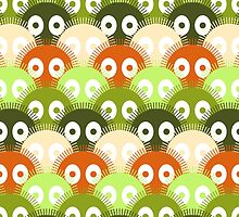 Susuwatari Pattern (color version) by freshinkstain
