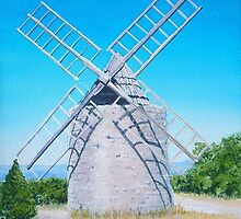 Old windmill by Bob Hickman
