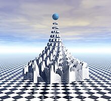 Surreal Fractal Tower by Phil Perkins