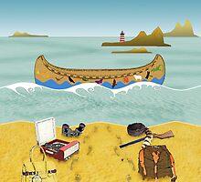 Pillow - Canoe to Moonrise Kingdom by Steven House