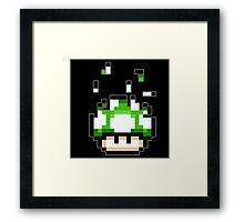 Pixel mushroom Framed Print