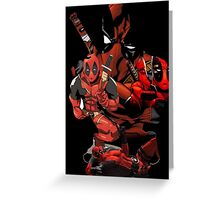 Deadpool Mash-up Greeting Card