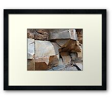 Rock Texture Framed Print