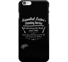 Hannibal Lecter's Cleaning Service iPhone Case/Skin