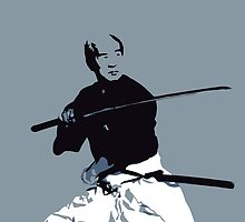 Samurai II (Blue, Print Only) by Mashiba