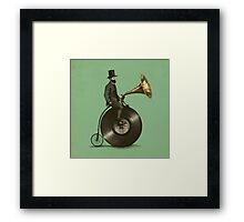 Music Man (green colour option) Framed Print