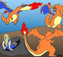 Mother of Charizards by oliviadoesart