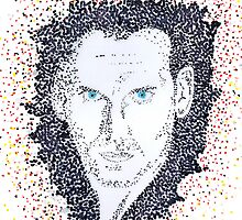 Pointillist Ninth Doctor Portrait by LisaKay