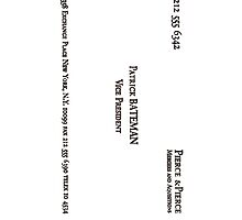 Patrick Bateman's Card by Simplez