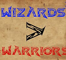Wizards > Warriors Sticker by Noah Kantor
