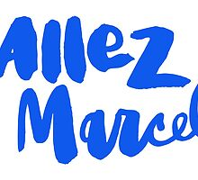 Allez Marcel! Blue on White by finnllow