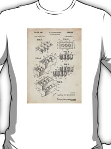 Lego Toy Blocks US Patent Art T-Shirt