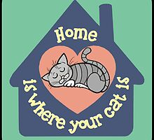 Home Is Where Your Cat Is by AnArielView